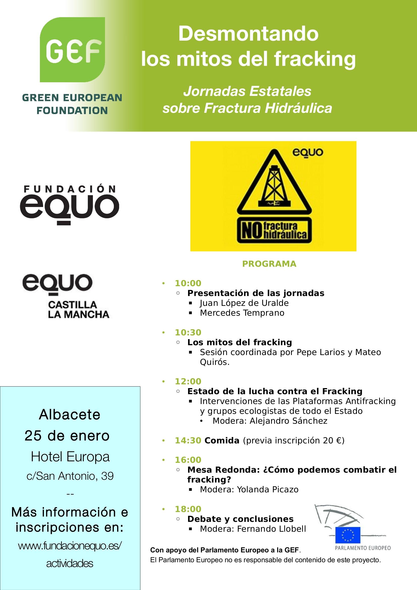 Jornadas Estatales sobre Fractura Hidráulica: DESMONTANDO LOS MITOS DEL FRACKING