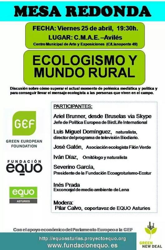 "Mesa Redonda ""Ecologismo y Mundo Rural"""