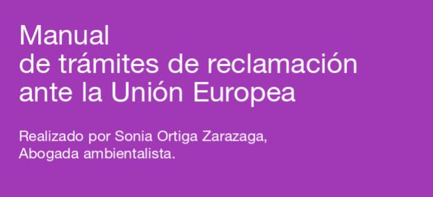 Manual de trámites de reclamación ante la Unión Europea