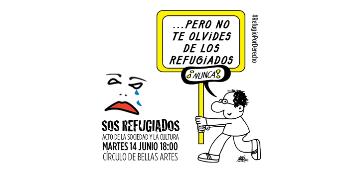 SOS Refugiados: Acto de la sociedad y la cultura #RefugioPorDerecho
