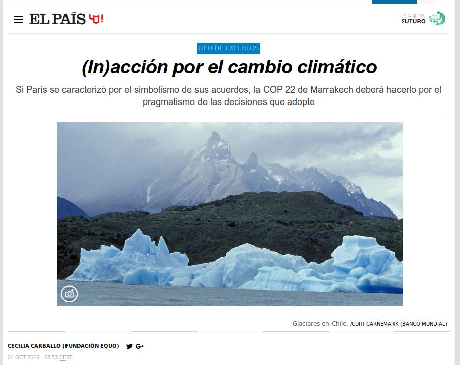 (In)acción por el cambio climático