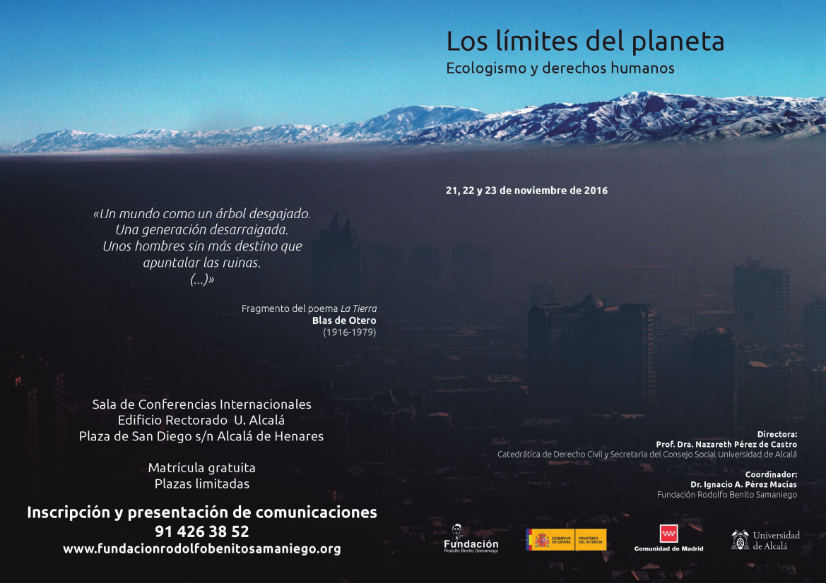 Curso. Los límites del planeta. Ecologismo y derechos humanos