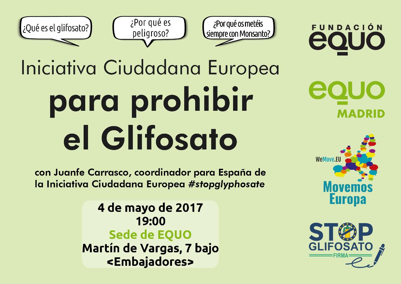 Resumen de la presentación de la Iniciativa Ciudadana Europea Stop Glifosato con Juanfe Carrasco