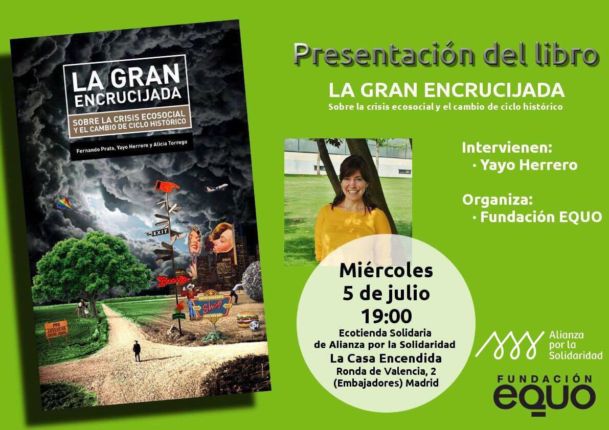 """Presentación de """"La Gran Encrucijada"""" con Yayo Herrero, coautora del libro"""