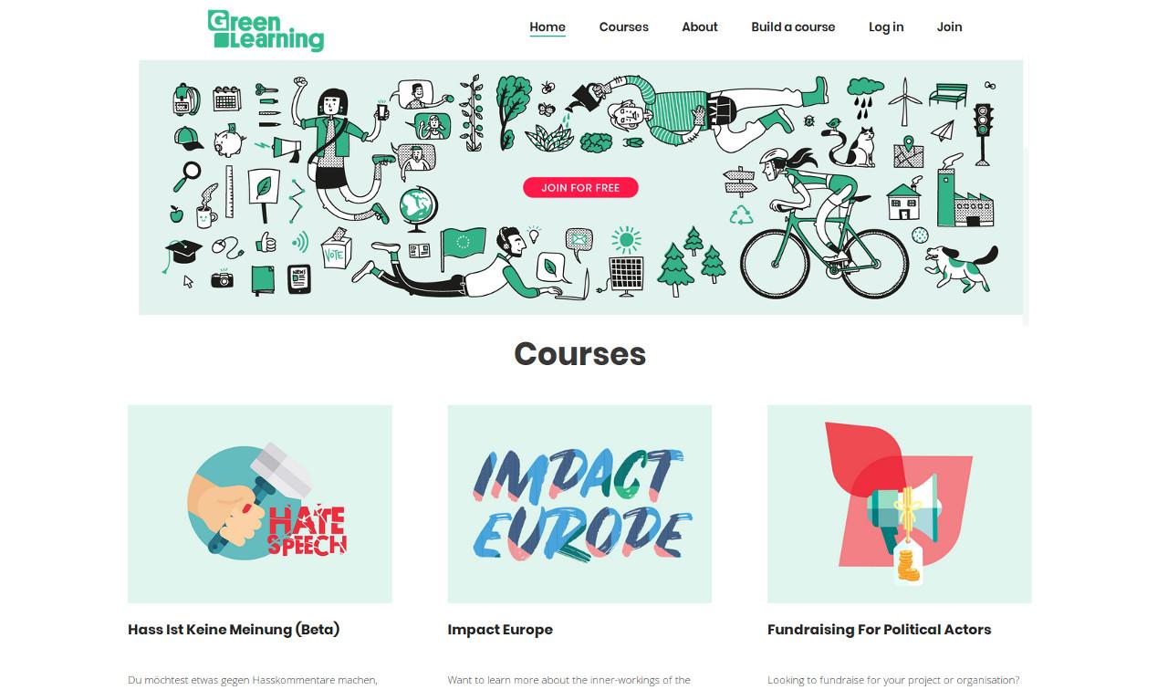 Nueva plataforma educativa verde