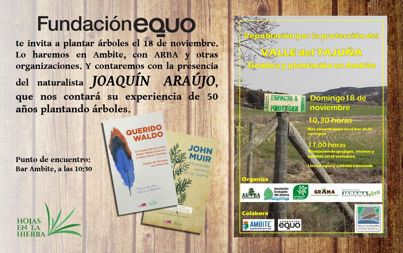 Plantación de árboles en Ambite (Madrid) con ARBA y Joaquín Araújo