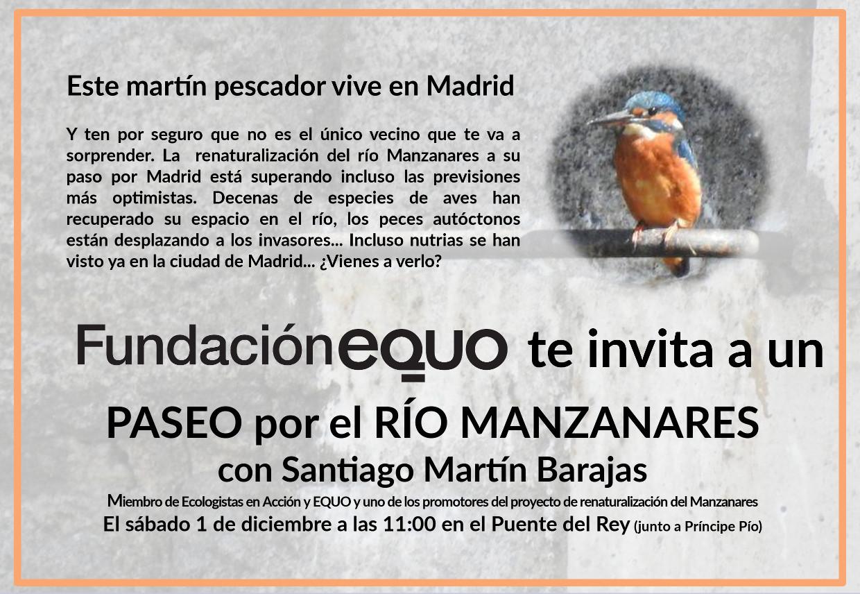 Paseo por el renaturalizado río Manzanares con Santiago Martín Barajas