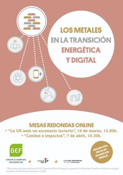 """Jornadas """"Los metales en la transición energética y digital"""""""