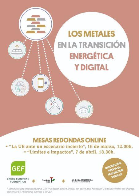 Los metales en la transición energética y digital.Límites e impactos
